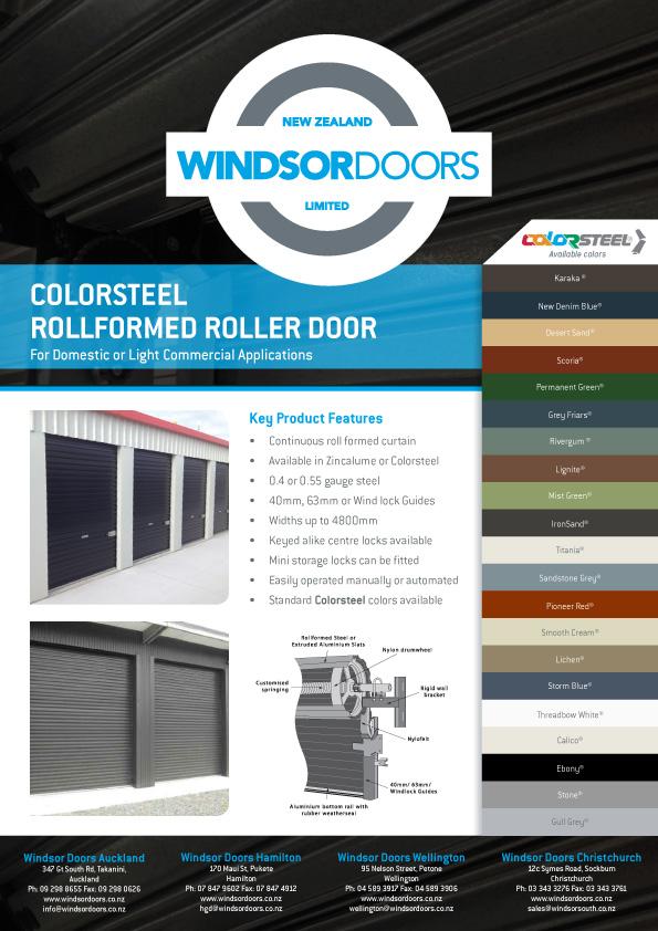 Roller Door Brochure